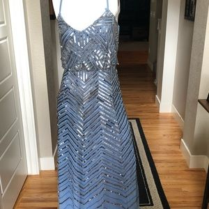 NWOT Adrianna Papell beaded formal gown size 10